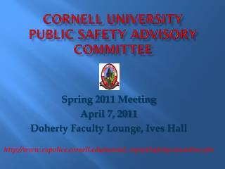 Cornell University  Public Safety Advisory Committee