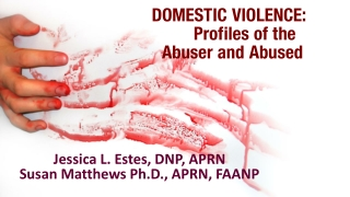 DOMESTIC  VIOLENCE: 	Profiles of the   Abuser and Abused