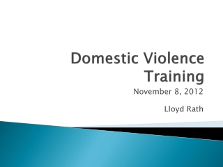 Domestic Violence Training