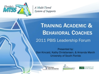Training Academic & Behavioral Coaches