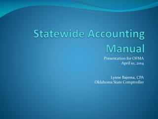 Statewide Accounting Manual