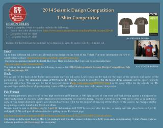 2014  Seismic Design Competition T-Shirt Competition