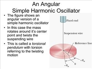 an angular simple harmonic oscillator