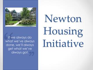 Newton Housing Initiative