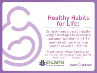 Healthy Habits  for Life: