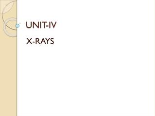 the x-ray tube