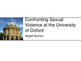 Confronting Sexual Violence at the University of Oxford
