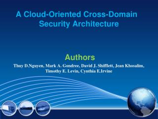 A Cloud-Oriented  Cross-Domain 	  Security Architecture