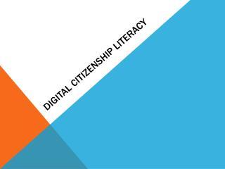 Digital Citizenship Literacy