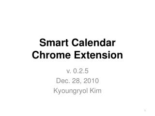 Smart Calendar  Chrome Extension