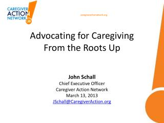 Advocating for Caregiving From the Roots Up