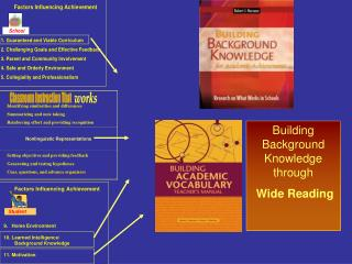 building background knowledge through  wide reading