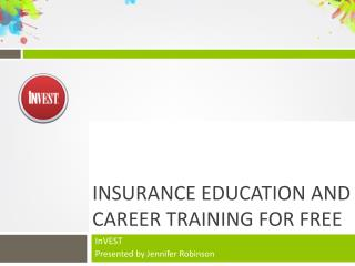 Insurance Education and Career Training for Free