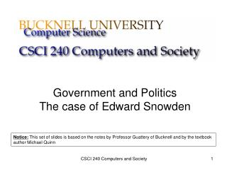 Government and Politics The case of Edward Snowden