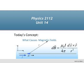 Physics 2112 Unit 14
