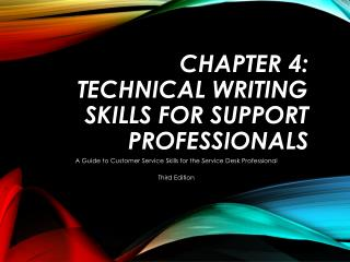 Chapter 4: Technical Writing Skills for Support Professionals