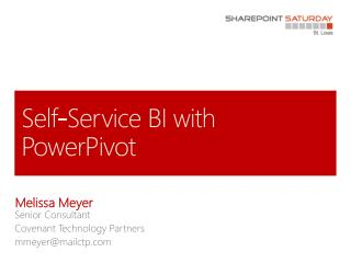 Self-Service BI with PowerPivot