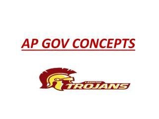AP GOV CONCEPTS