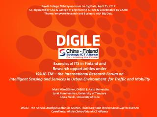 Rawls  College 2014 Symposium on Big  Data, April  25,  2014 Co-organized by CAC & College of Engineering &  FJUT & Coo