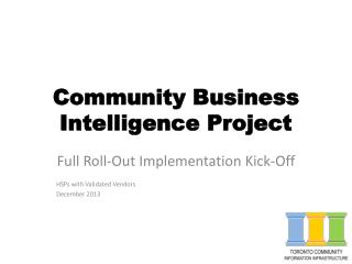 Community Business  Intelligence Project