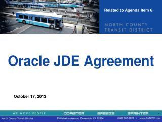 Oracle JDE Agreement