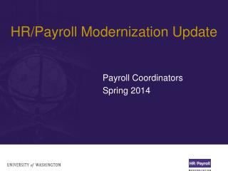 HR/Payroll Modernization Update