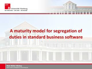A maturity model for segregation of duties in standard business  software