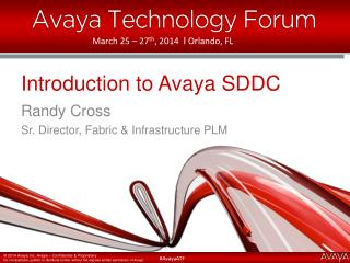 Introduction to Avaya SDDC