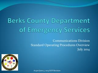 Berks County Department of Emergency Services