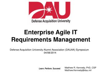 Enterprise  Agile IT Requirements Management