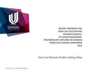 Xero  Live Business Model creating Value