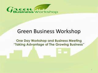 Green Business Workshop