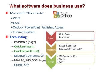 What software does business use?