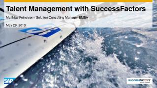 Talent Management with SuccessFactors