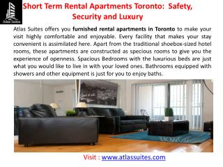 Toronto Furnished Apartments