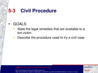 5-3	 Civil Procedure