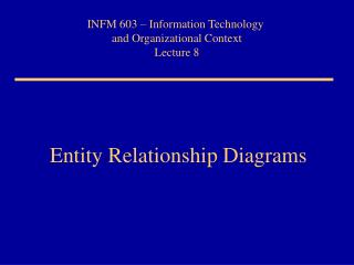 Entity Relationship Diagrams