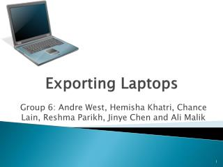 Exporting Laptops