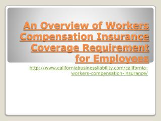 An Overview of Workers  Compensation Insurance Coverage