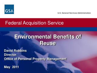 Environmental Benefits of Reuse