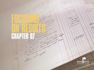 Chapter 7 focusing on results