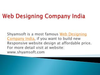 Reliable Custom Website Design Company in India