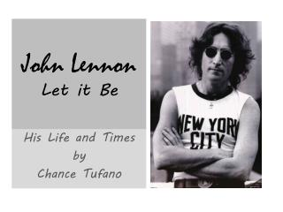 John Lennon  Let it Be
