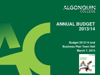 Annual budget 2013/14