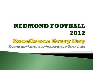 REDMOND FOOTBALL 2012