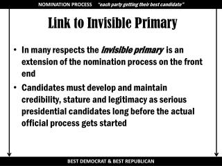 Link to Invisible Primary