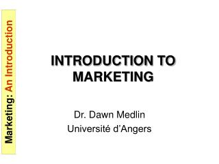 INTRODUCTION TO MARKETING
