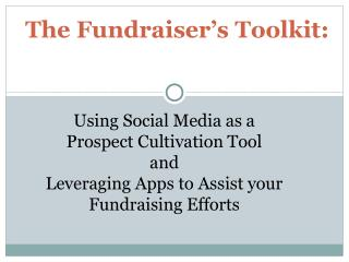 The Fundraiser's Toolkit: