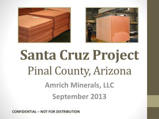 Santa Cruz Project Pinal County, Arizona