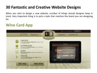 30 Fantastic and Creative Website Designs